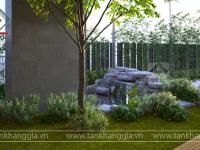 Thiết kế sân vườn Chị Hương