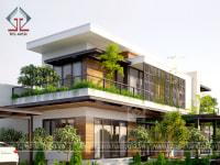 Thiết kế biệt thự sân vườn Chị Hiền