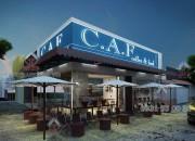 Thiết kế quán coffee C.A.F đường Nam Kì Khởi Nghĩa, Quận 3, TP.HCM