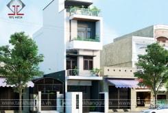 Công ty Tân Khang Gia hoàn thành thiết kế nhà phố đẹp Chú Đức ở Trảng Bom – Đồng Nai