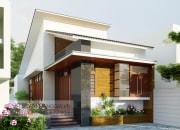 Phương án thiết kế nhà phố gác lửng mái lệch