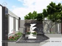 Thiết kế sân vườn chị Thủy