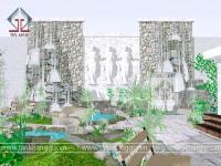 Thiết kế sân vườn Đồi Cọ