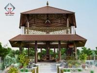 Thiết kế sân vườn Giữa Hồ