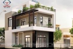 Thiết kế nhà phố đẹp Anh Minh ở Trảng Bom