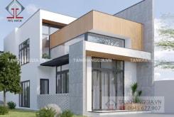Thiết kế nhà phố gác lửng ở Long Khánh – Đồng Nai
