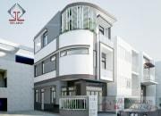 Phương án thiết kế nhà 2 mặt tiền ở Tp.HCM đã hoàn thiện